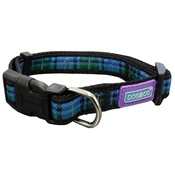 Hem & Boo - Tartan Adjustable Dog Collar - Blue