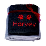 My Posh Paws - Personalised Santa Paws Gift Set - Grey