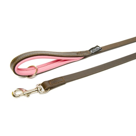 Pink Colours Leather Lead