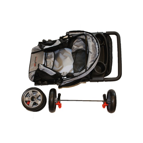 All Terrain Dog Buggy - Black/Silver 3
