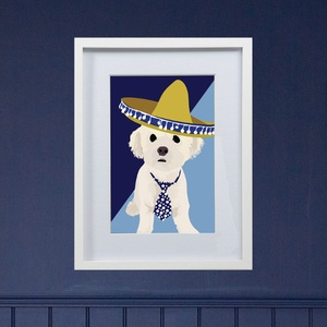 Unframed Bespoke Pet Portrait