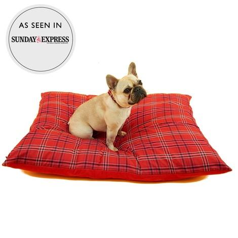 Henry Holland Red Tartan Dog Bed