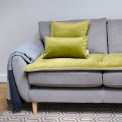 The Lounging Hound - Lustre Velvet Sofa Topper - Grass