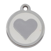 Tagiffany - My Sweetie White Heart Pet ID Tag
