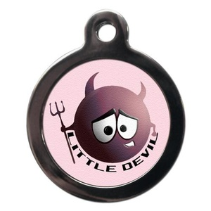 Pink Little Devil Pet ID Tag