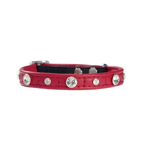 Comete Leather Cat Collar – Red