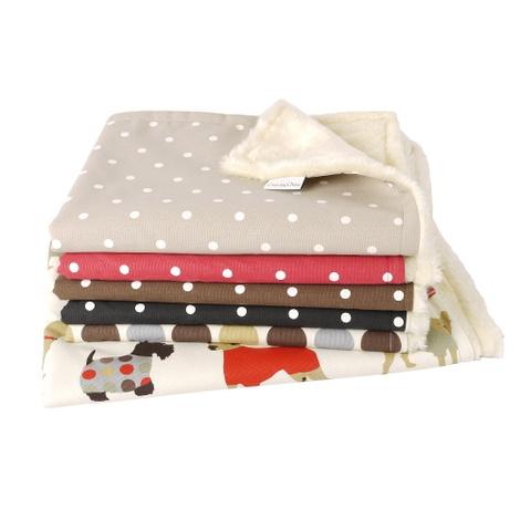 Faux-Fur Fleece Comforters - Dotty Chocolate 2