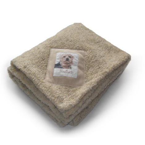 Personalised Beige Luxury Sherpa Blanket