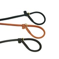 Rolled Leather Slip Dog Lead – Black 3