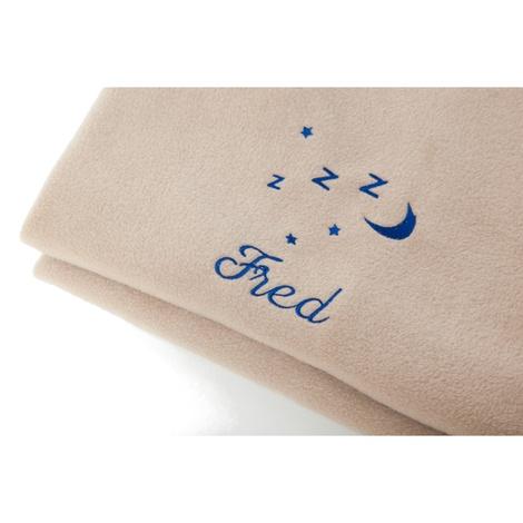 Personalised Cream Snooze Pet Blanket - Italic font 2
