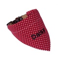 Personalised Dog Bandana – Red & White Polka Dot 2