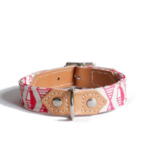 Pink Geo Dog Collar 3