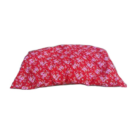 Red Vintage Floral Cushion Dog Bed
