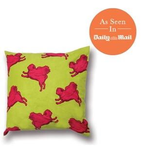 Flying Pug Cushion Cover