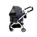 Cleo Denim Pet Buggy with Detachable Carrier 4