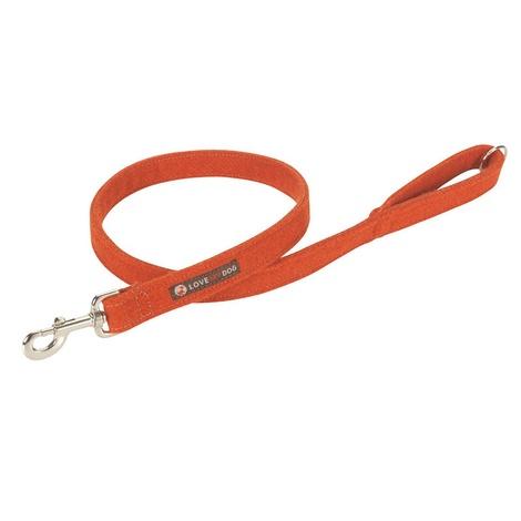 Edison Orange Harris Tweed Dog Lead 2