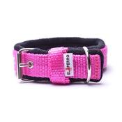 El Perro - 2.5cm width Fleece Comfort Dog Collar – Fuchsia Pink