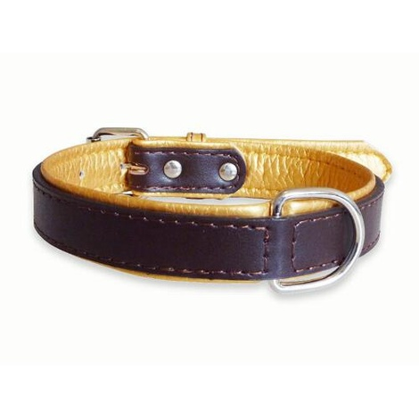Fusion Brown Leather Dog Collar