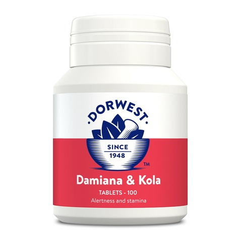Damiana & Kola Tablets for Dogs and Cats