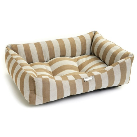 Gold Stripe Dog Bed