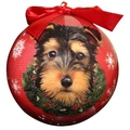 Yorkshire Terrier Puppy Christmas Bauble