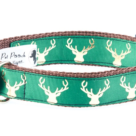 Country Stag On Lush Green Collar