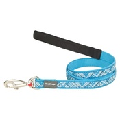 Flanno Dog Lead – Turquoise
