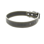 The Leather Dog Co - Grey Leather Dog Collar