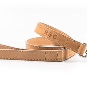Ralph & Co - Leather dog lead - Thin (Trieste) - Light tan
