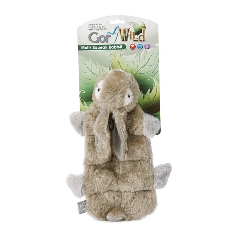 Gor Wild Multi-Squeak Dog Toy - Rabbit