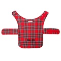 Personalised Red Tartan Dog Coat 4