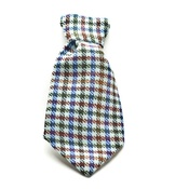 SR! Dog Accessories - Richard Nixon Dog Tie - Blue Check