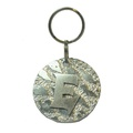 Alphabet Dog ID Tag - Plain silver on textured silver