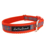 Salt Dog Studios - Red Tartan Dog Collar