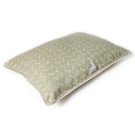 Sage Bone Linen Pillow Bed