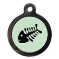 Fishbone Cat Tag - Green