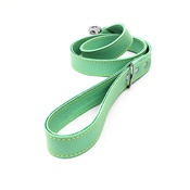 The Leather Dog Co - Pale Green Leather Dog Lead