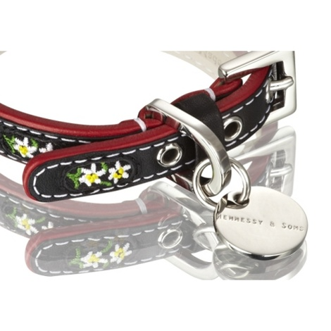 Edelweiss Leather Dog Collar – Swiss Black 2