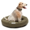 Forest Green Tweed Donut Bed 5