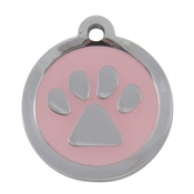 Tagiffany - My Sweetie Light Pink Paw Pet ID Tag