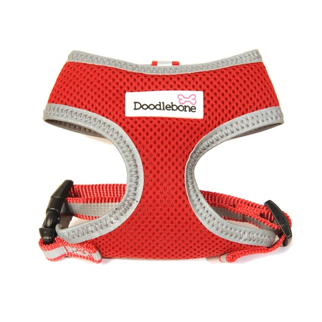 Reflective Airmesh Dog Harness – Red  2