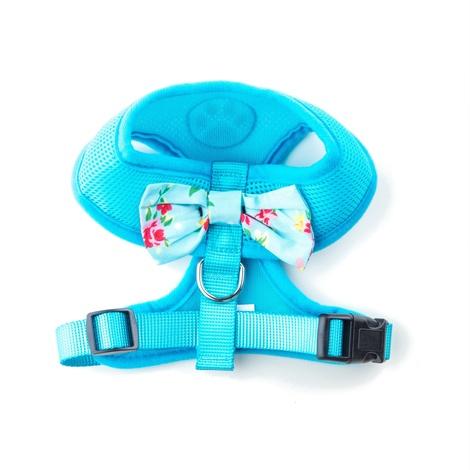 Blue Vintage Bow Dog Harness