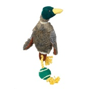 House of Paws - Duck Dog Toy with Rope Tail & Tennis Ball