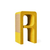 Catworks - Scratching Post - Letter A - Yellow