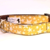 Pet Pooch Boutique - Mustard Yellow Stars Collar