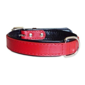 Fusion Red Leather Dog Collar