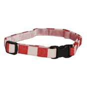 Creature Clothes - Stripey Red/White Cat Collar