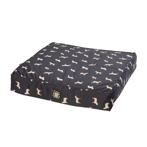 Dog Print Water Resistant Deep Filled Dog Bed 2