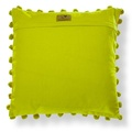 Biddy Pug Cushion Cover - Green with Neon Pink Pug 2