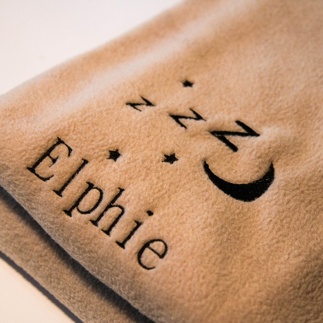 Personalised Cream Snooze Pet Blanket - Classic font 3